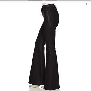 LIKE NEW Hudson high rise lace flare coated jeans